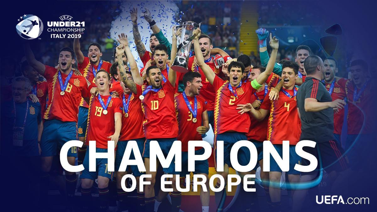 五夺U21欧青赛冠军,西班牙与意大利并列第一