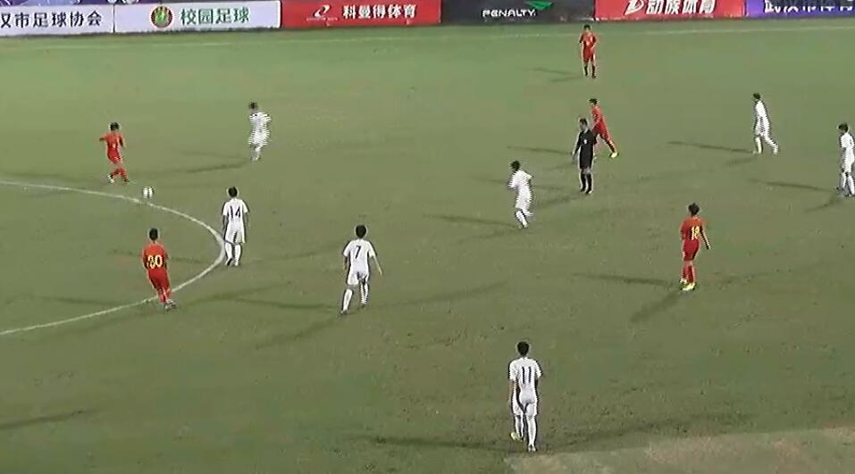 武汉杯U14邀请赛:曲格平头球破门,中国1-2韩国