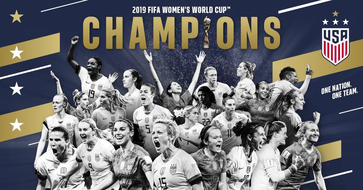 征服世界!美国女足8届世界杯夺4冠,在三大洲登顶