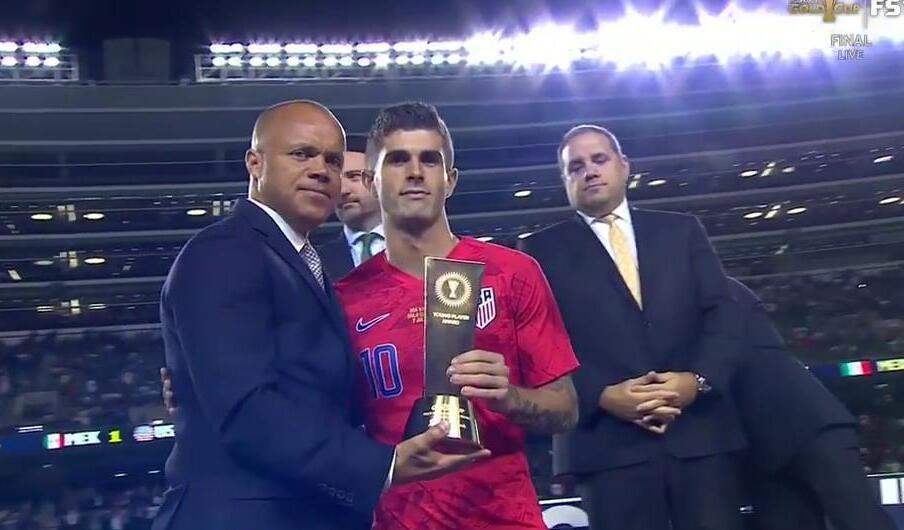 年轻美队!官方:普利西奇获金杯赛最佳年轻球员