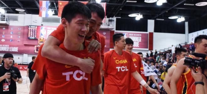时隔12年,中国男篮获得夏联历史第二胜