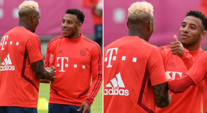 一图流:拜仁中卫博阿滕训练中展示新发型