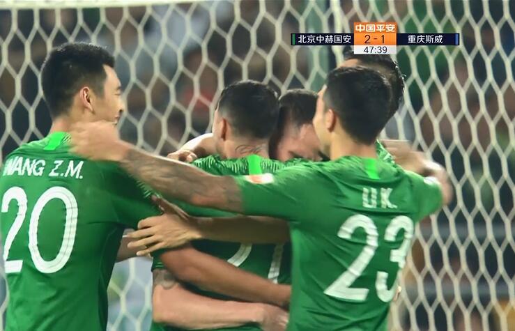 GIF:杨帅手球送点,奥古斯托罚进,国安2-1重庆