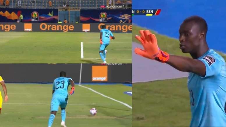 GIF:南度几何?塞内加尔门将传球踢疵险酿乌龙