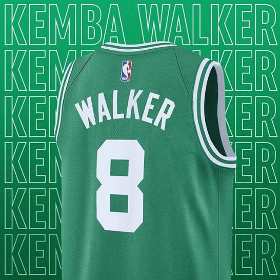 凯尔特人官方更新社交媒体,晒出沃克新球衣