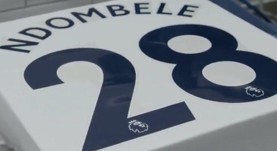 官方:恩东贝莱新赛季将身披热刺 28号球衣