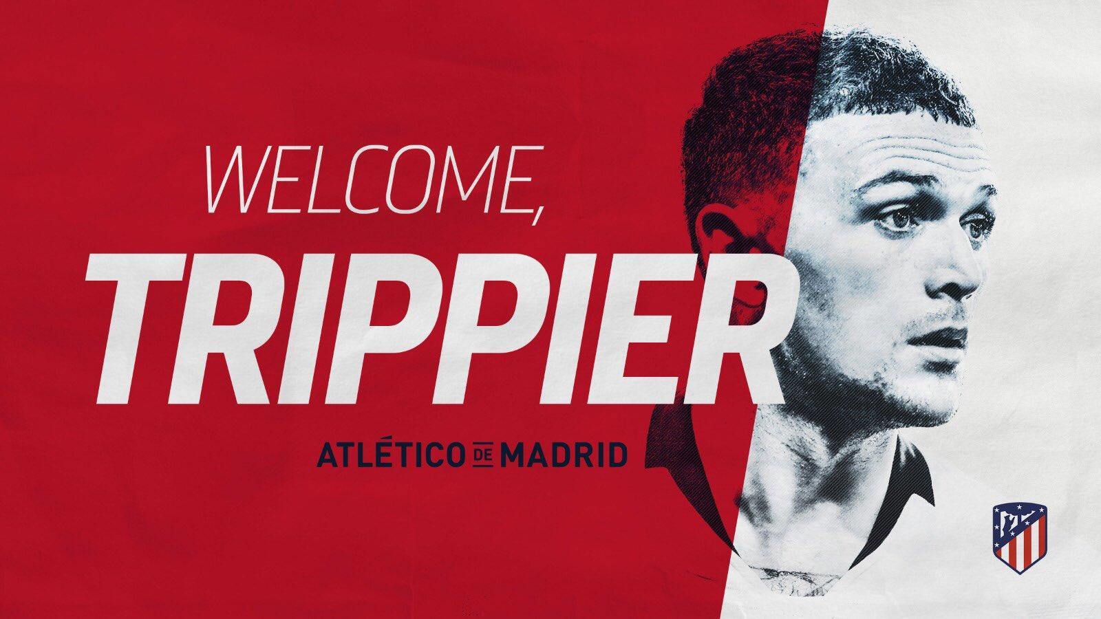 热刺后卫特里皮尔加盟马德里竞技 成队史首位英格兰球员