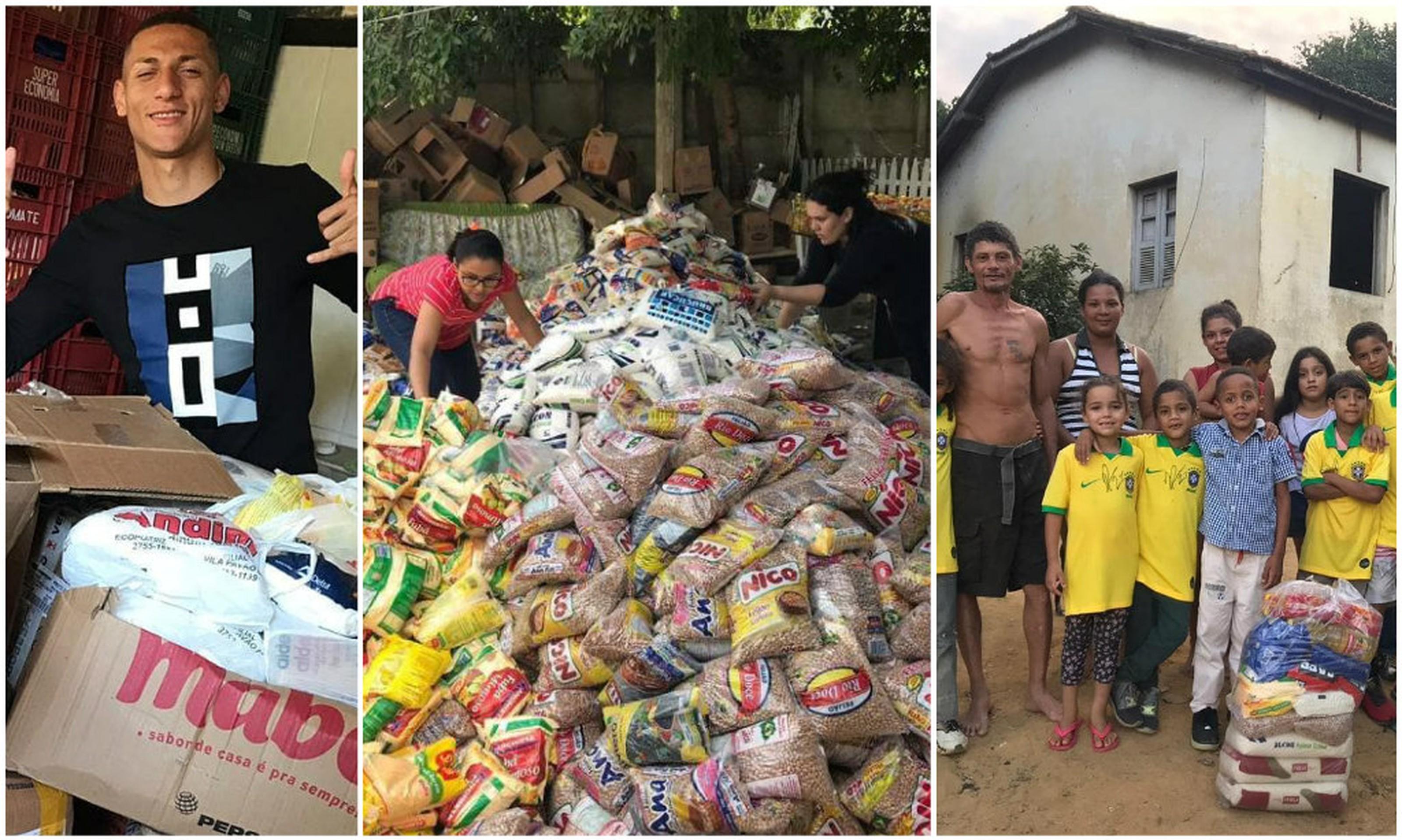 暖!理查利森为家乡贫困家庭捐赠 6.  4吨食物