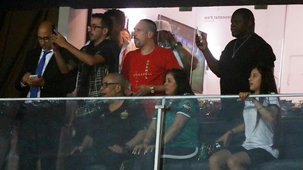 拜仁传奇里贝里观看非洲杯决赛, 见证夺冠
