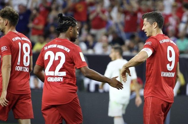 国冠杯-莱万格纳布里破门罗德里戈难救主 拜仁3-1皇马