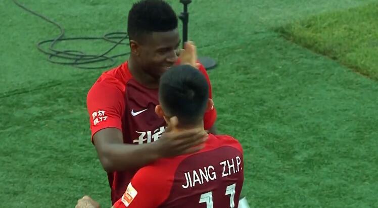 GIF:董学升远射被扑马尔康补射破门,华夏2-0重庆