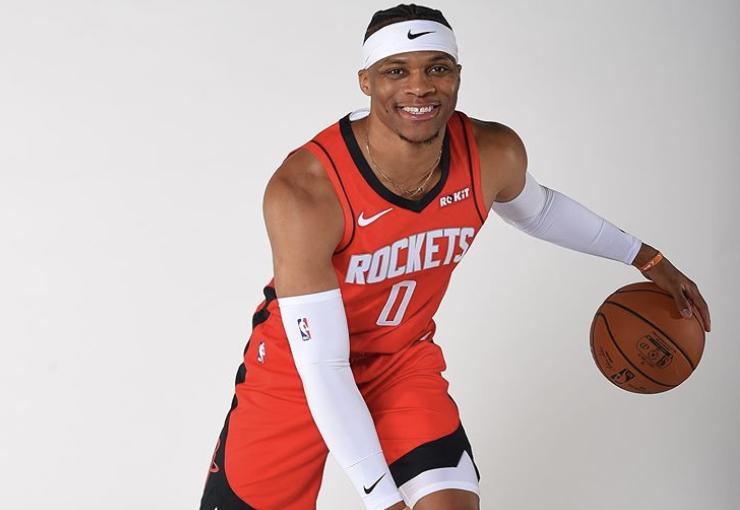正式亮相!NBA官方今日发布威斯布鲁克登陆火箭定妆照