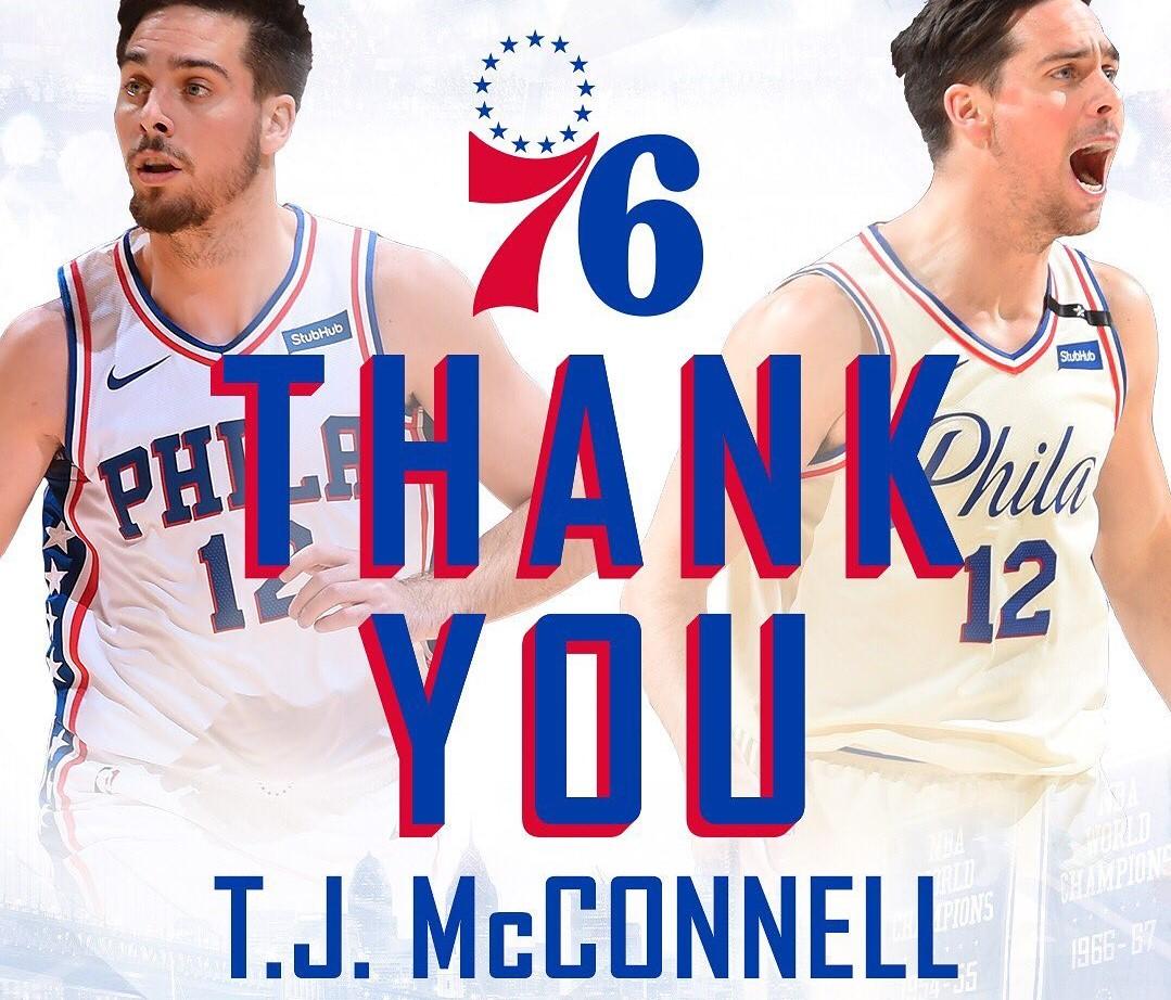 谢谢曾经一起走过的岁月!76人队官方晒图称谢麦康奈尔