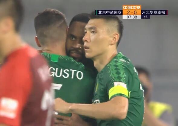 GIF:巴坎布造点亲自主罚命中,国安2-0华夏幸福