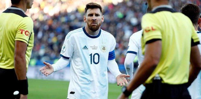 官方:梅西被南美足联范围内禁赛3个月,今天开始执行