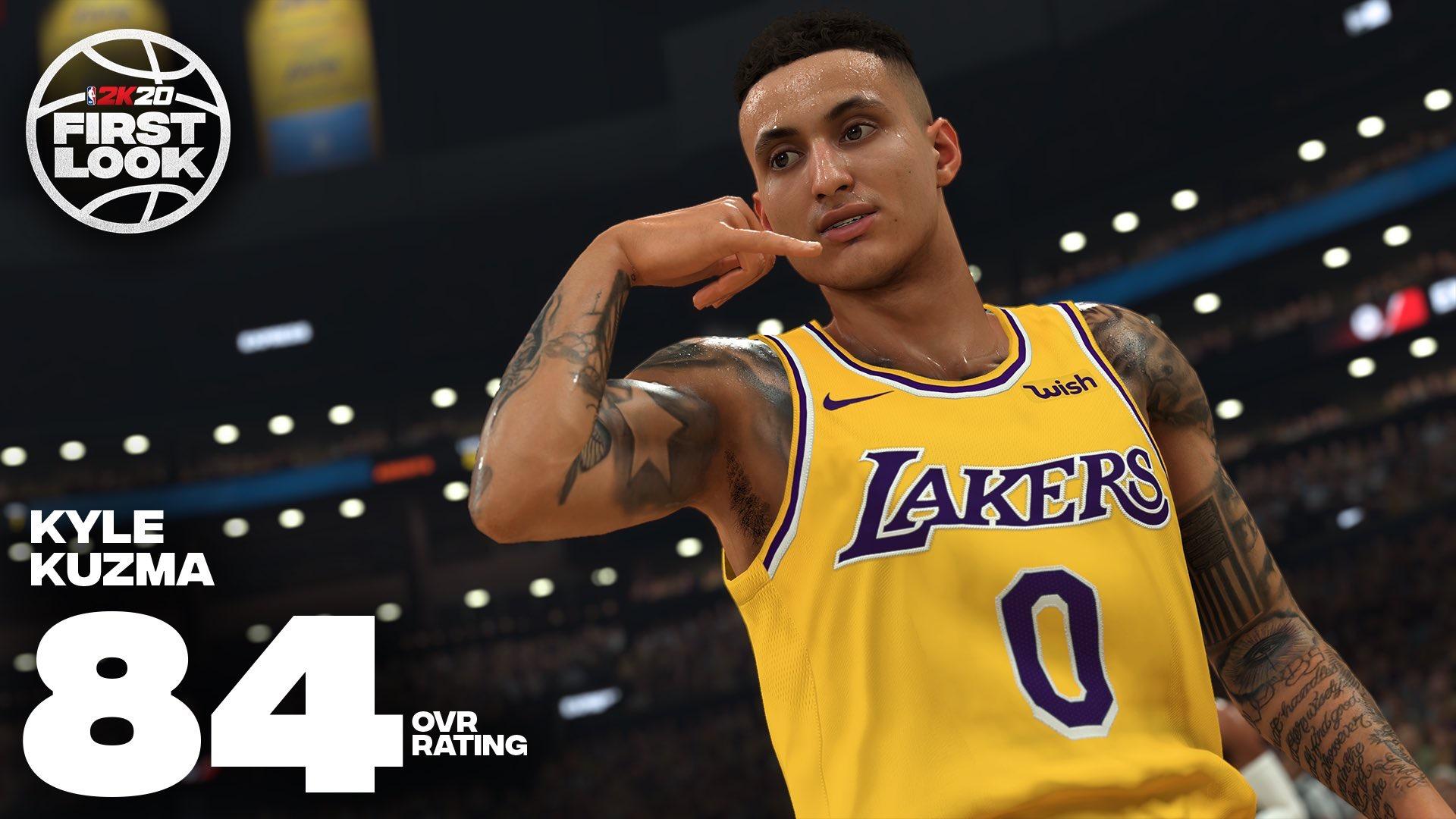 凯尔-库兹马NBA2K20能力值公布:84