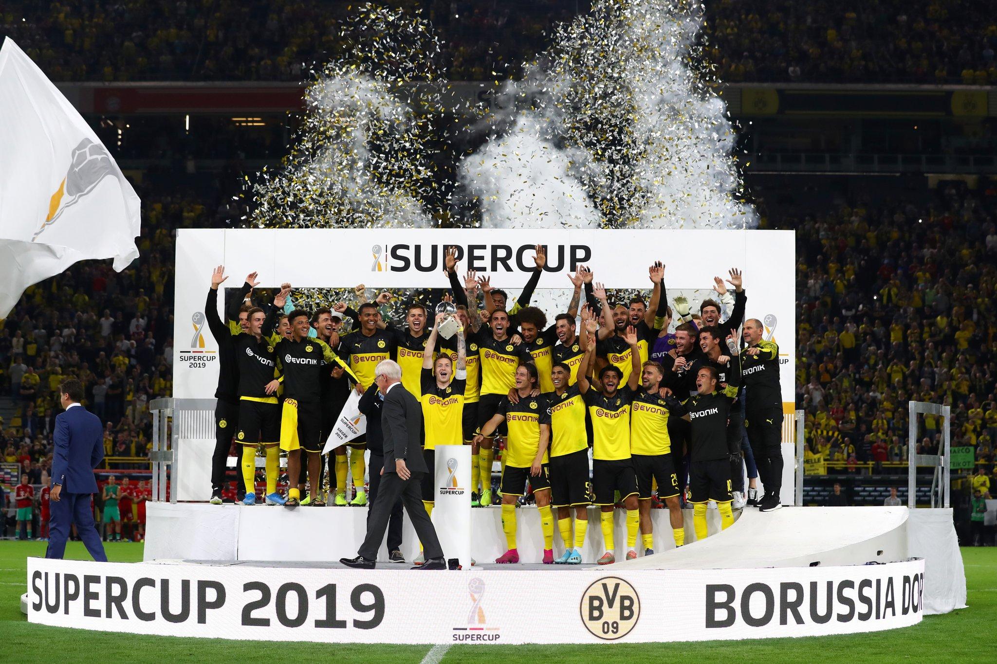 平分秋色!多特与拜仁在7年中各3次赢得德超杯冠军