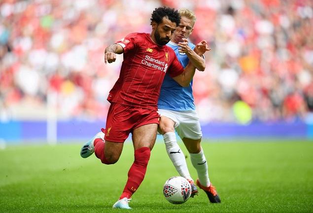半场:萨内伤退斯特林破门萨拉赫中柱,曼城1-0利物浦