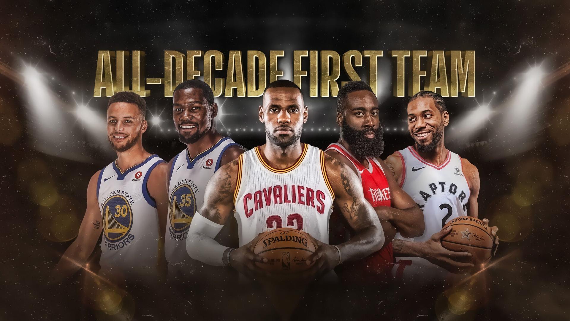 NBA官网评10年来的最佳阵容:詹杜库哈卡领衔
