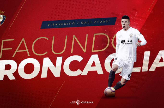 民间:奥萨苏纳以25万欧元签下阿根廷后卫隆卡利亚