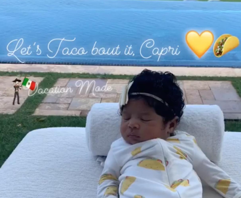 实力晒娃!瓦妮莎今日更新社媒晒出小女儿Capri