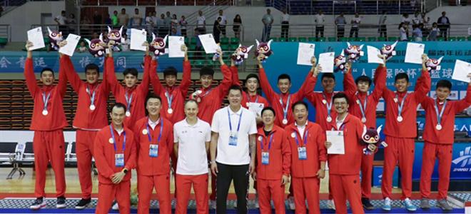 朱芳雨祝贺广东U16夺得二青会体院组亚军