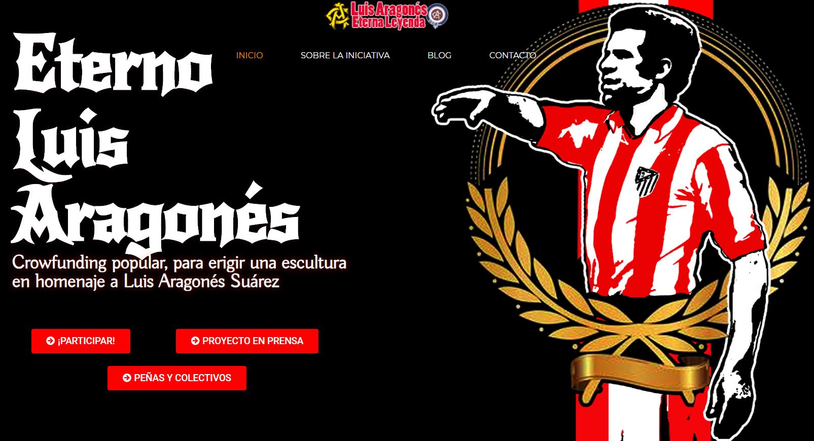 马竞球迷组织集资13万欧元,为阿拉贡内斯打造雕像