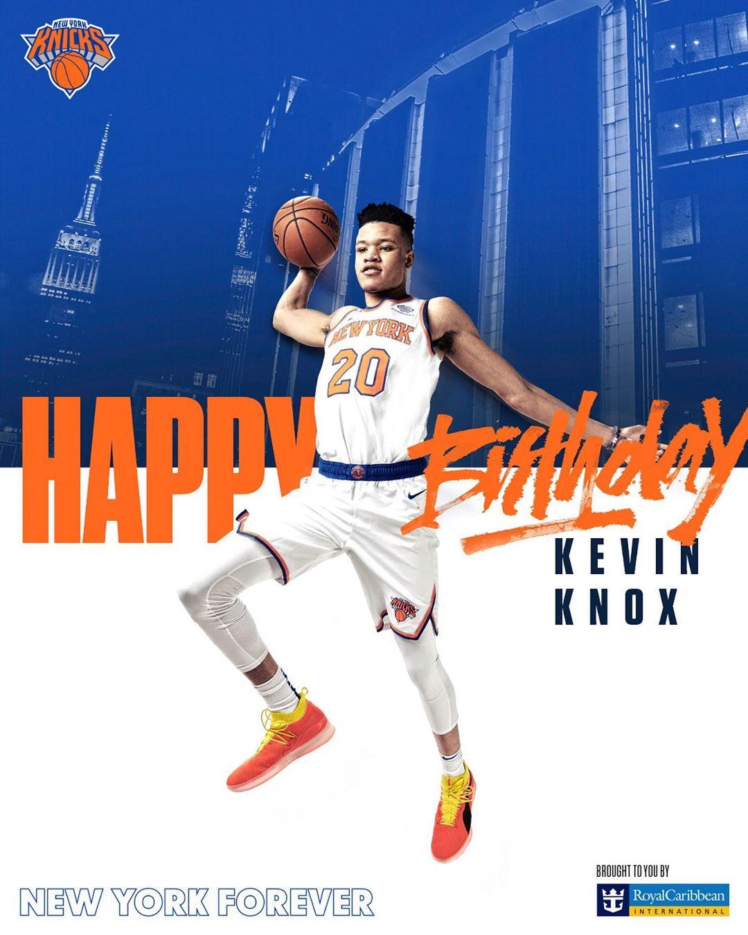 尼克斯官方祝凯文-诺克斯20岁生日幸福