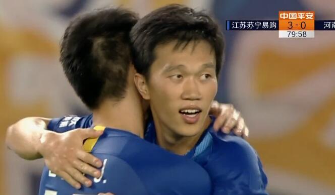 GIF:世界波!谢鹏飞远射破门,苏宁3-0建业