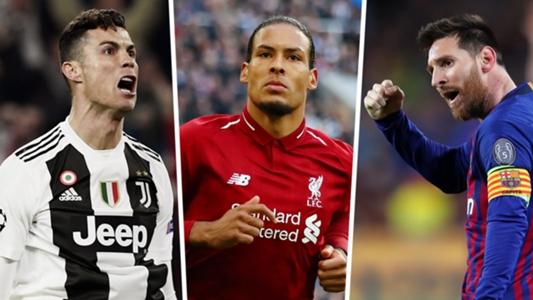 欧足联年度最佳球员候选:梅罗+范戴克入围