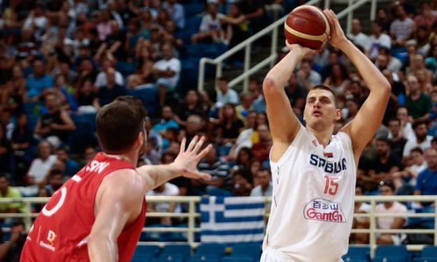 塞尔维亚男篮热身赛87-72轻取土耳其
