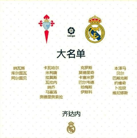 皇马西甲首轮大名单:拉莫斯领衔,贝尔和哈梅斯入选