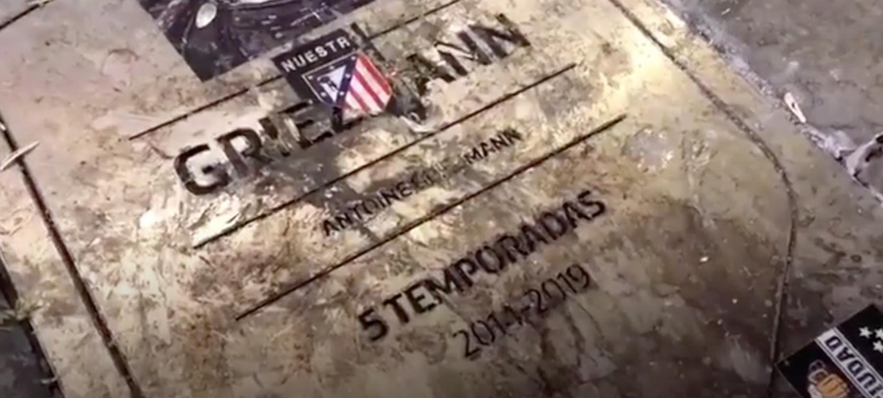 恩断义绝,马竞球迷破坏格列兹曼的纪念牌