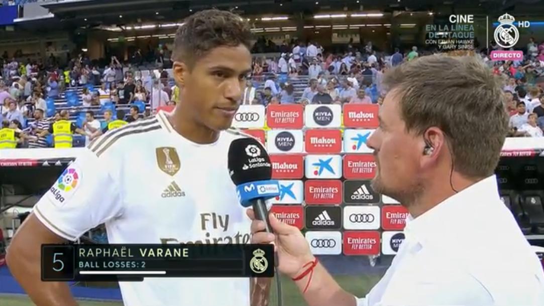 瓦拉内:皇马的前锋踢得不错,就是缺点门前的运气