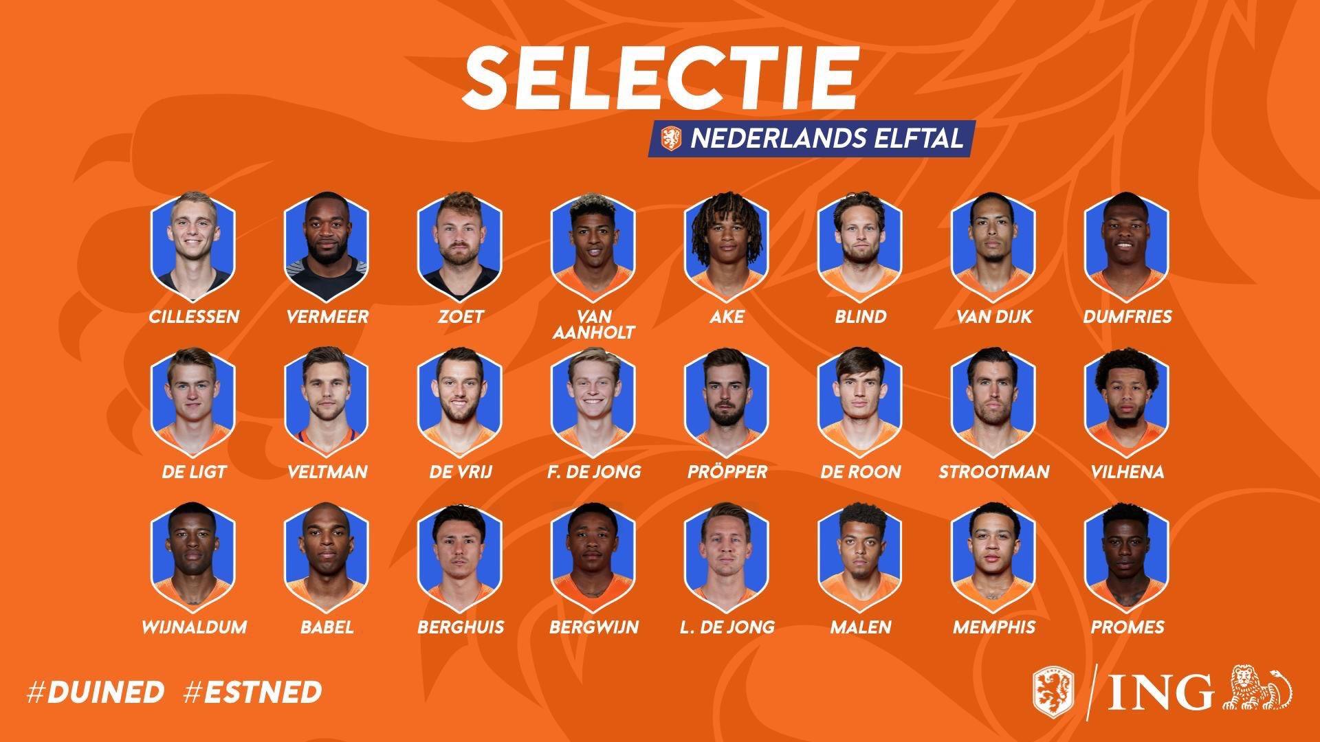 荷兰大名单:范戴克领衔,孟菲斯、双德入选