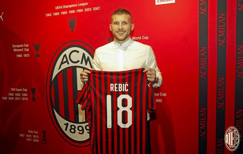 官方:AC米兰租借法兰克福前卫雷比奇两个赛季