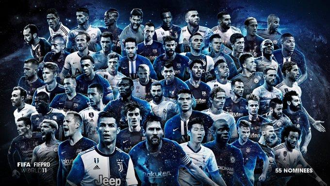 FIFA最佳阵容候选名单:梅罗范戴克领衔,孙兴慜在列