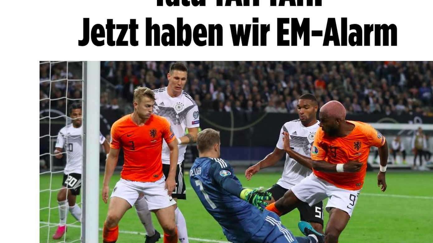 图片报头条:现在是我们的欧洲杯资格危险了!