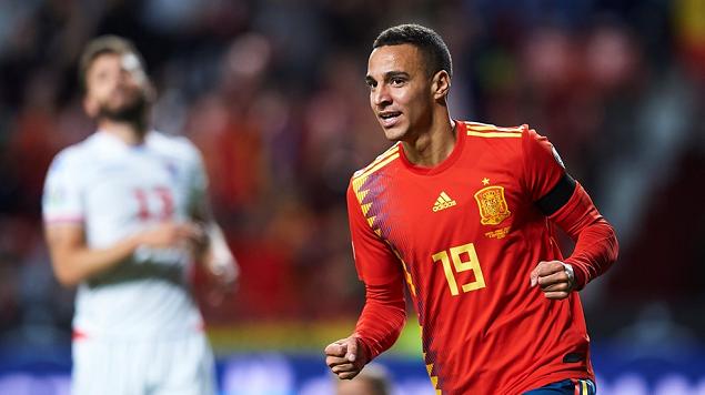 欧预赛:罗德里戈帕科梅开二度,西班牙4-0法罗群岛