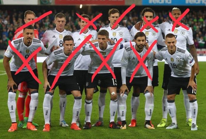 物是人非!对比德国两年前对阵北爱,如今仅2人依然首发