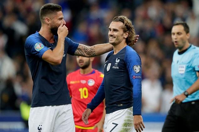 欧预赛:科曼朗格莱破门格子连场失点,法国3-0安道尔