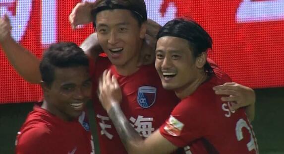 GIF:富力后防失误两连,杨旭门前射门得手