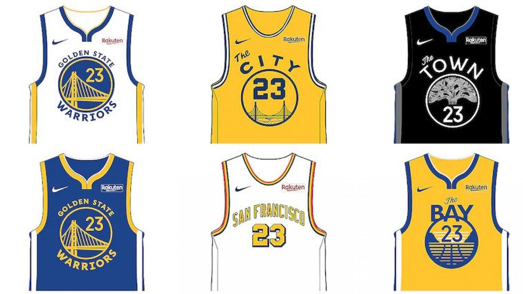 金州勇士队为2019-20赛季推出6款新的球衣设计