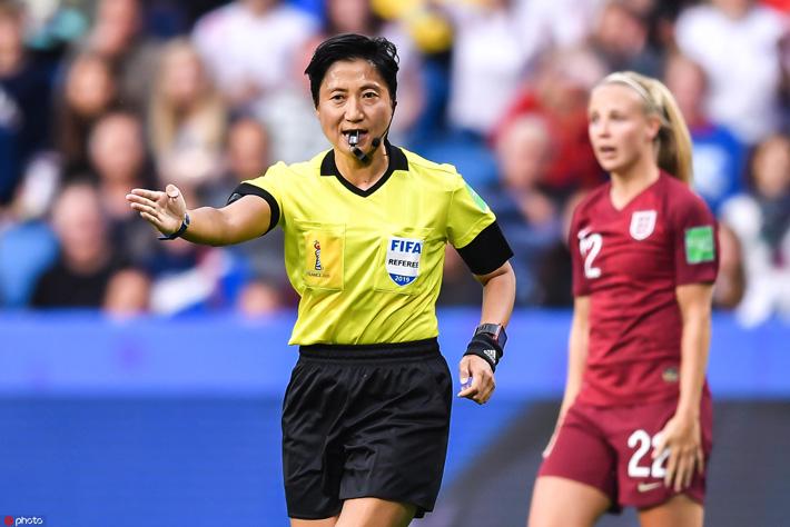 女足世界杯裁判秦亮:偶像是谭海,上场前会画淡妆