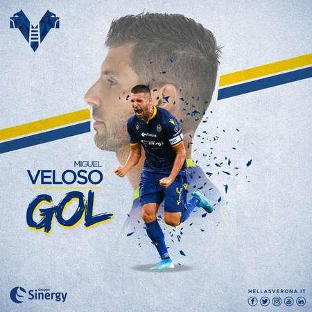 GIF:维罗纳点球中柱,中场维罗索随后远射破门