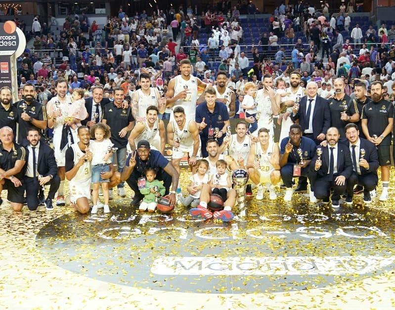 常胜之师!阿根廷篮协晒图祝贺国内皇马球员夺冠