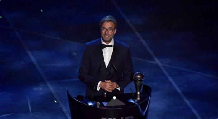 恭喜,众特蒙德歌颂克洛普获得FIFA最佳教练