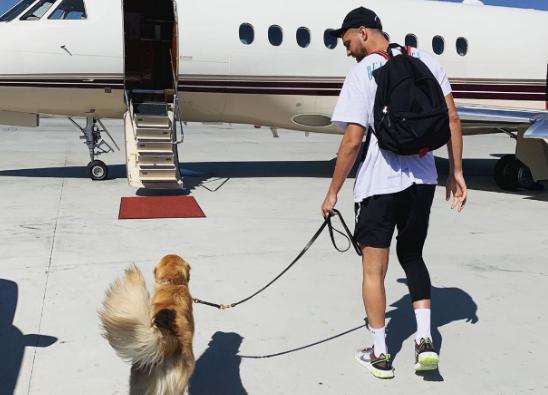 生活写意!帕森斯更新社媒展现本身带喜欢犬出走时hg0088官网照片