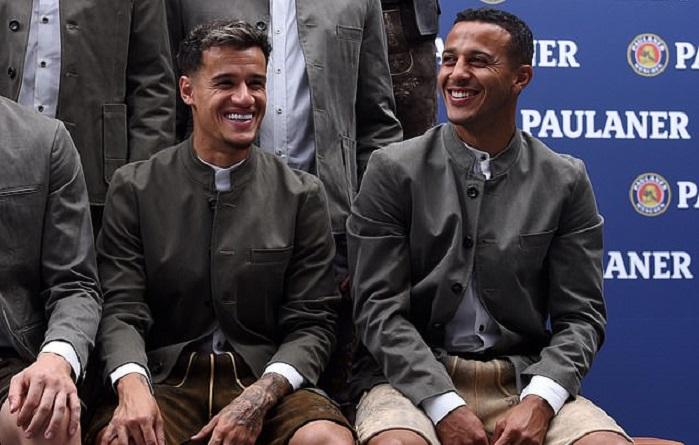库蒂尼奥:我喜欢巴伐利亚皮裤,穿上后很合适