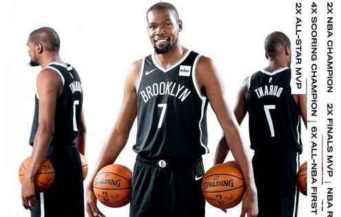 NBA官方更新社媒发图祝凯文-杜兰特生日快乐